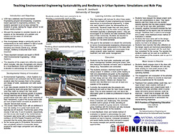 Teaching Environmental Engineering Sustainability and Resiliency in Urban Systems: Simulations and Role Play