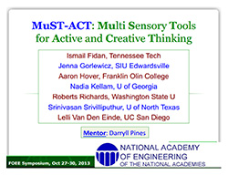 MuST-ACT: Multi Sensory Tools for Active and Creative Thinking
