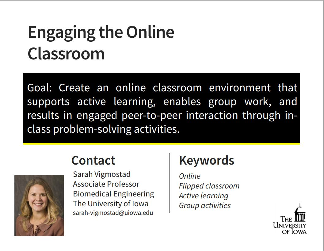 Engaging the Online Classroom