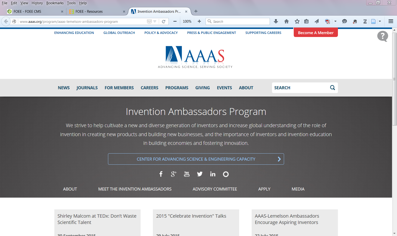 AAAS Invention Ambassadors Program