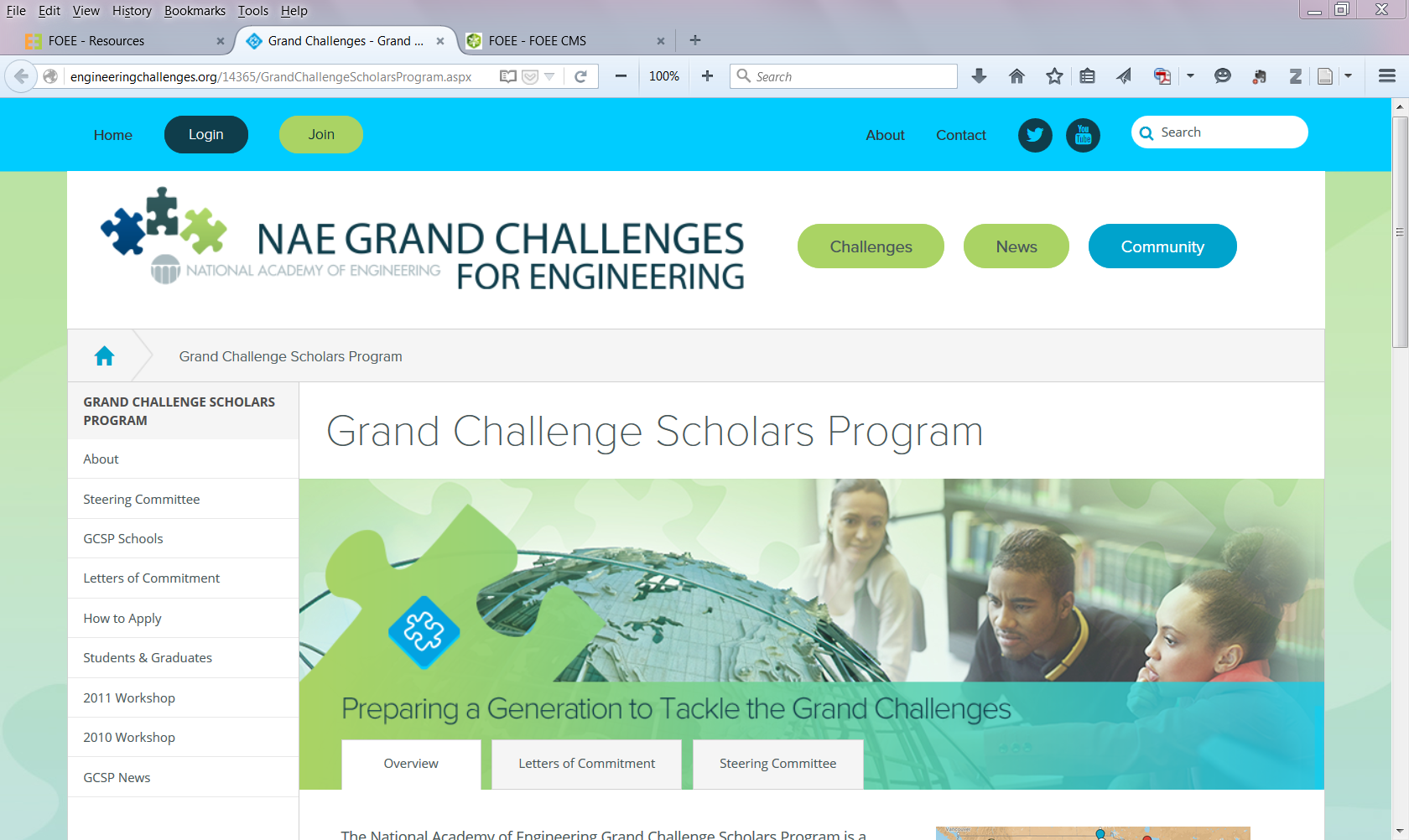 Grand Challenges Scholars Program