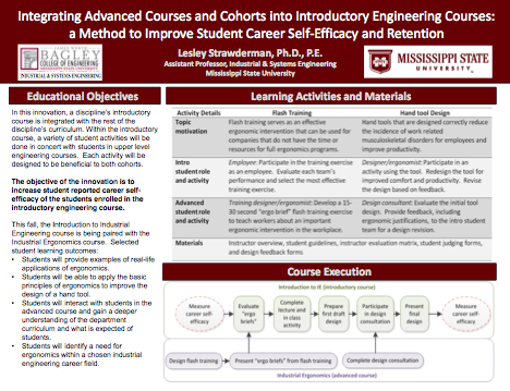 Integrating Advanced Courses and Cohorts into Introductory Engineering Courses