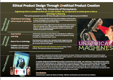 Ethical Product Design Through Unethical Product Creation