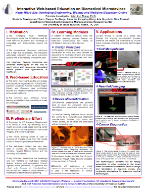 Interactive Web-based Education on Biomedical Microdevices