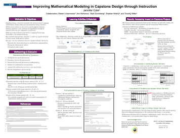 Improving Mathematical Modeling in Capstone Design through Instruction