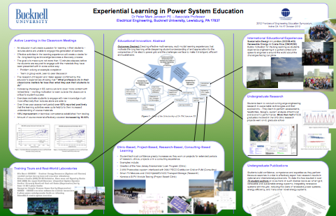 Experiential Learning in Power System Education