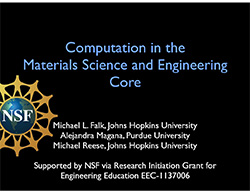 Computation in the Materials Science and Engineering Core