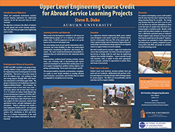 Upper level engineering course credit for abroad service learning projects