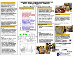 Project Based Learning to Integrate Biological Processing with Biology, Biochemistry, Food Science and Nutrition